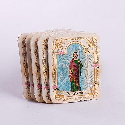 Cartão com velcro São Judas - 5 unidades