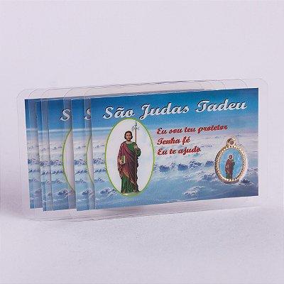 Cartão Plastificado medalha com oração de São Judas