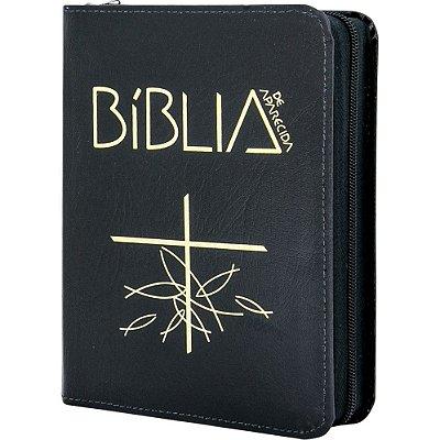 Bíblia de Aparecida - Média Zíper Preta