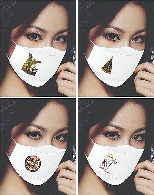Máscara em tecido lavável