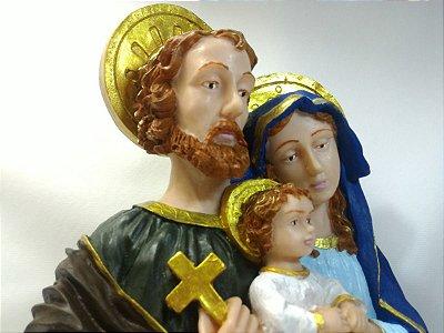 Sagrada Família Busto Resina 30 Cm Imagem