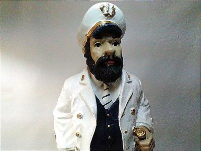 Escultura Capitão Marinheiro Marujo Gesso 49 Cm Umbanda