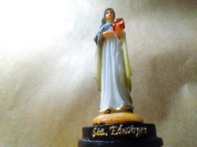Santa Edwiges Resina 12 Cm Imagem Católica Santa
