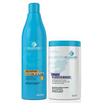 Shampoo Estabilizador Anti Resíduo + Blutox Platinum Blond - 2 Produtos