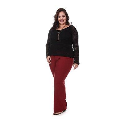 Blusa Plus Size Beatriz - Preta | Loulic