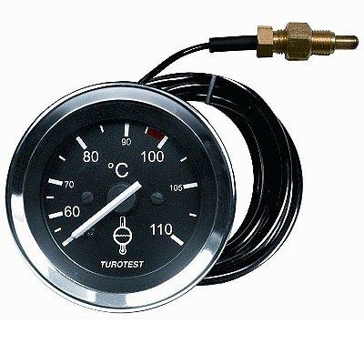 Termômetro Água Motor 52mm - Cabo 4,00m - Rosca 14x1,5
