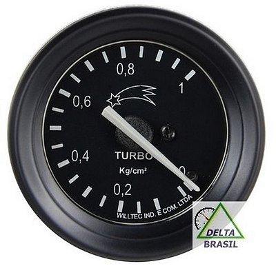 Pressão Turbo 1 Kgf/cm² - ø60mm - Aro Preto | COMETA - CMA |