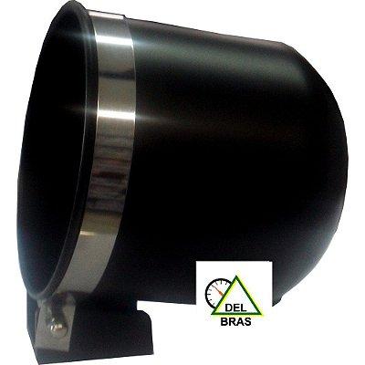Copo ø85mm Alumínio Preto com Cinta Inox