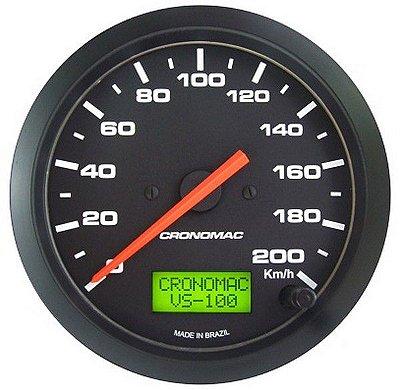 Velocímetro Eletrônico Cronomac 200km/h Street/Preto