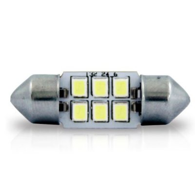 Led Torpedo 36mm 6 leds SMD 12v Autopoli