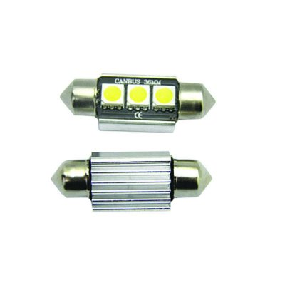 Led Torpedo 36mm 3 Leds Cambus 12v Shocklight