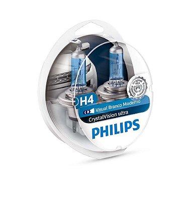 Lampada H4 Crystal Vision Ultra Philips 60/55w 12v