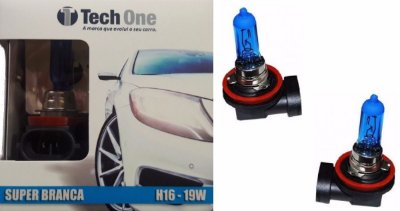 Lampada H16 Super Branca Tech One 19w 12v