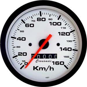 Velocímetro 100mm W=0.625 Street/Branco | Cronomac