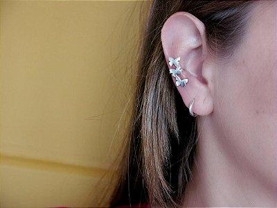 EAR CUFF 3 BORBOLETAS