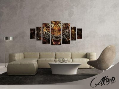 Adesivo Quadro Tigre Feroz