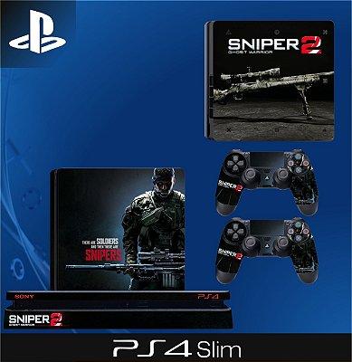 Capa skin Ps4 Slim - Sniper 2