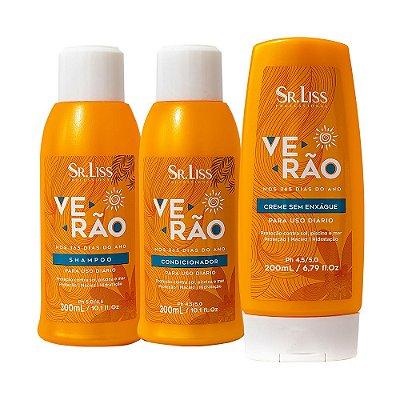 VERÃO (Shampoo, Condicionador e Creme de pentear) - Sr Liss