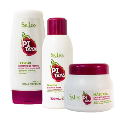 Kit Pitaya  (Shampoo, Máscara e Leave in) - Sr. Liss
