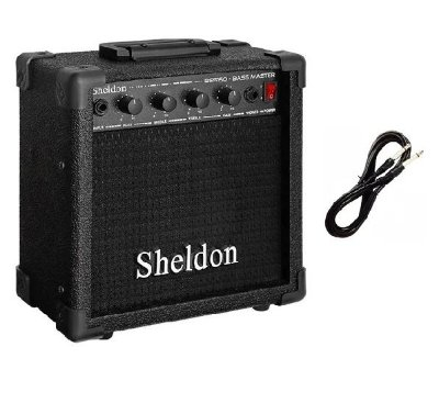 Cubo Para Baixo Bss150 Sheldon Preto 15w + CABO BRINDE