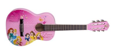 Violão Infantil princesas linha Disney PHX VIP 3 acompanha capa