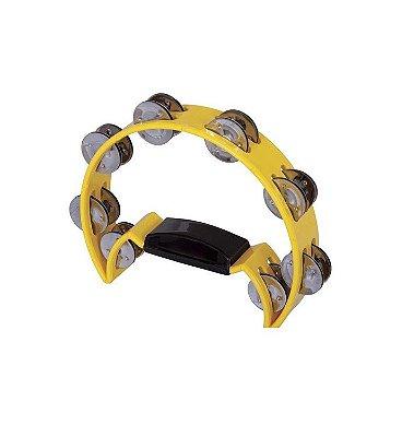 Pandeiro/Pandeirola Meia Lua Spanking ABS Amarelo
