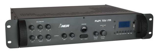 Potência com pré-embutido mono - PWM70V FM