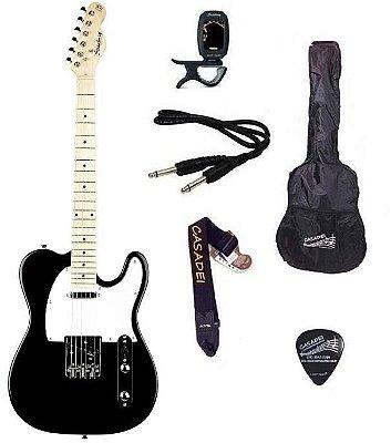 Kit Guitarra Strinberg Telecaster TC120S Preta