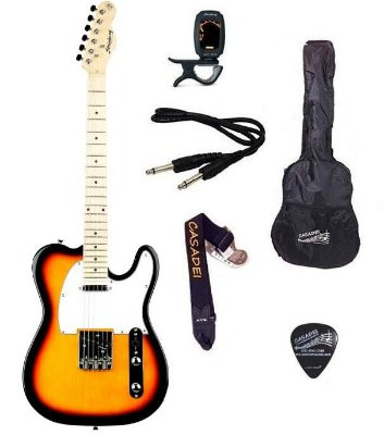 Kit Guitarra Strinberg Telecaster TC120S Sunburst