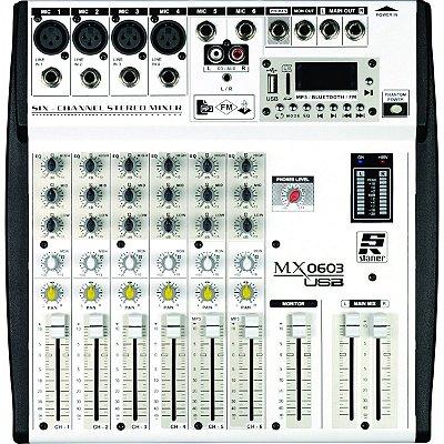 MESA DE SOM STANER MX 0603 USB