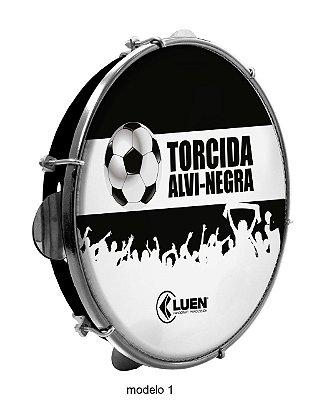 "Pandeiro Luen Torcida Alvi-Negra 10"" Polegadas"