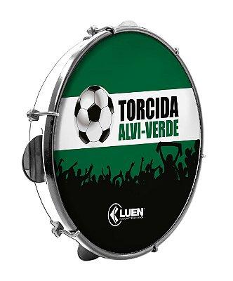 "Pandeiro Luen Torcida Alvi-Verde 10"" Polegadas"