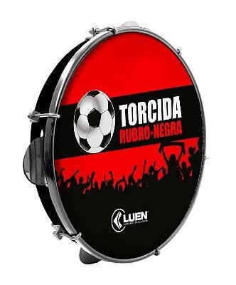 """Pandeiro Luen Torcida Rubro-Negra 10"""" Polegadas"""