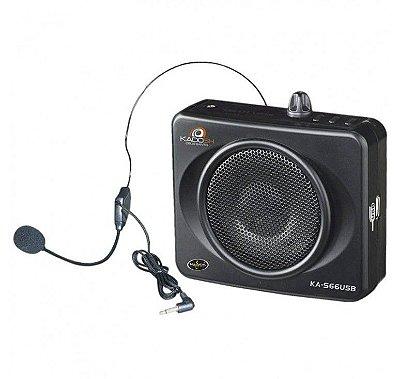 Kit Professor Microfone Amplificado Aula Kadosh Kas-66 Usb
