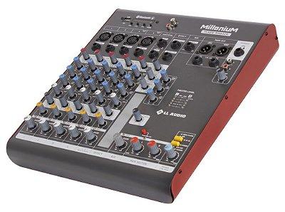 Mesa de som linha Millenium mx602r com efeito e Phantom power 48v