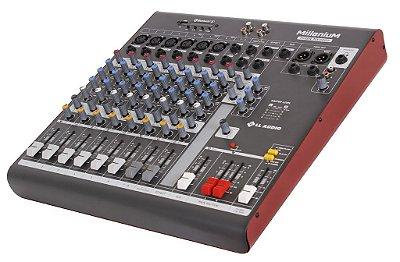 Mesa de som linha Millenium mx1002D com efeito e Phantom power 48v