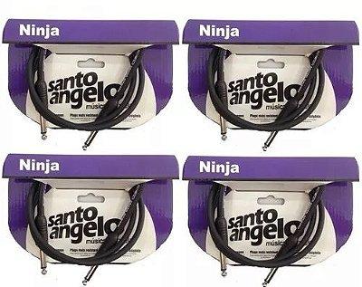 Kit 4 Cabos P10 / P10 Santo Angelo Ninja 0,91m P10/p10