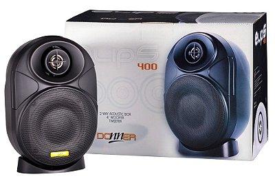 Par de Caixas Acústicas p/ Som Ambiente ELIPS400 - 60W RMS Preta