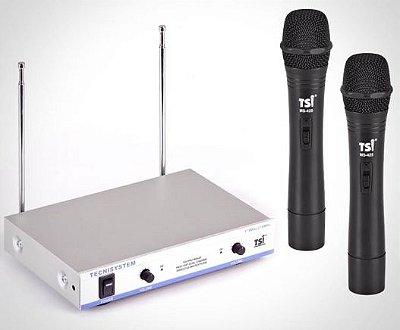 Microfone s/ Fio Duplo TSI MS425 VHF