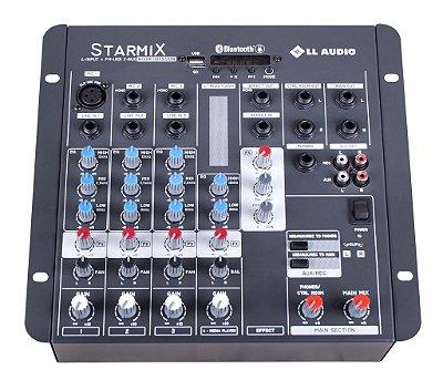 Mesa de Som LL Starmix USFX402R BT 4 Canais USB e Efeito