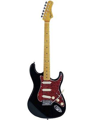 Guitarra Tagima TG530 Strato Preta com escudo Vermelho