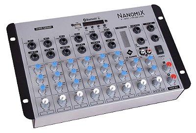 Mesa de som LL Nanomix NA902R BT 9 canais - com gravação