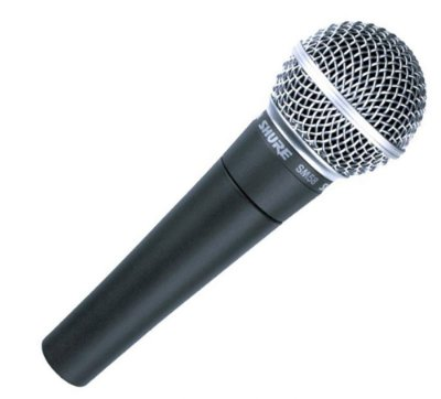 Microfone Shure Dinâmico Cardioide Sm58 Para Voz Principal e Backing