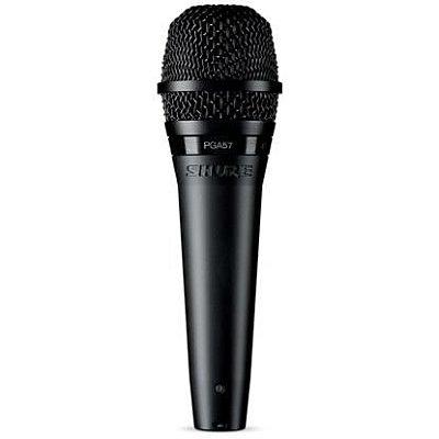 Microfone Shure Dinâmico Cardioide PGA57 Para Amplificador de Guitarra e Metais