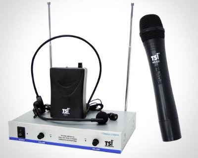 Microfone s/ fio TSI MS425 CLI - mão; cabeça e lapela