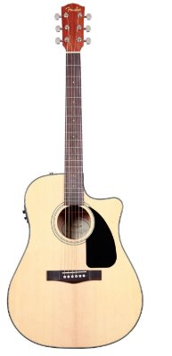 Violão Fender Eletroacústico dreadnought CD60ce Natural com Hard Case