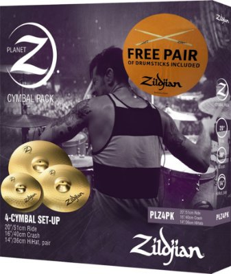 KIT DE PRATOS ZILDJIAN PLANET Z - PLZ4PK - 14HH+16CRASH+20RIDE