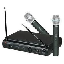 Microfone Duplo S/ Fio Karsect Uhf - Kru302