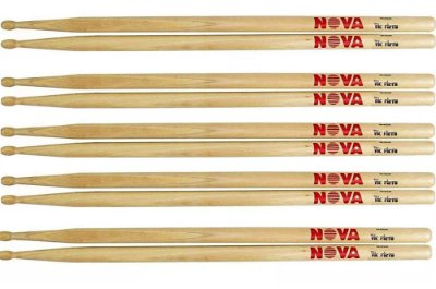 Baqueta Nova By Vic Firth 7A - Kit com 5 pares