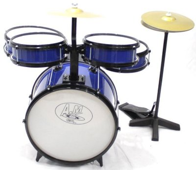 Bateria Infantil Profissional ROCK BABY (AM) - Azul Com Chimbal